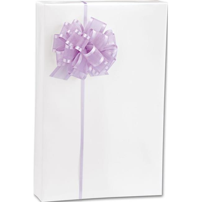 Bags & Bows by Deluxe W-011-24 White Gloss Gift Wrap