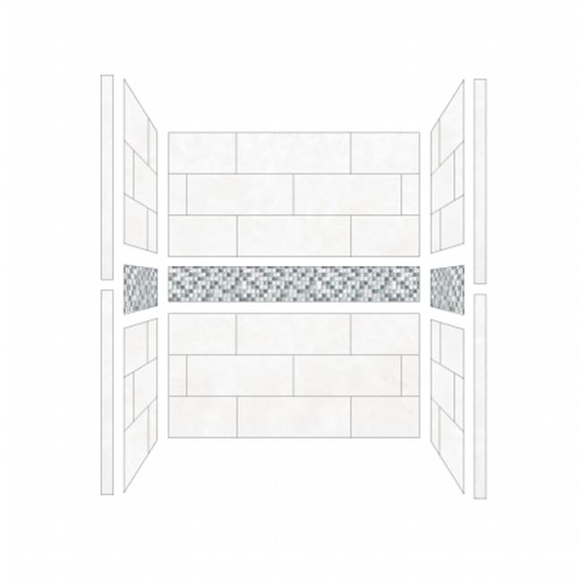 American Bath S484280LA Single 48 x 42 in. Laguna Walls