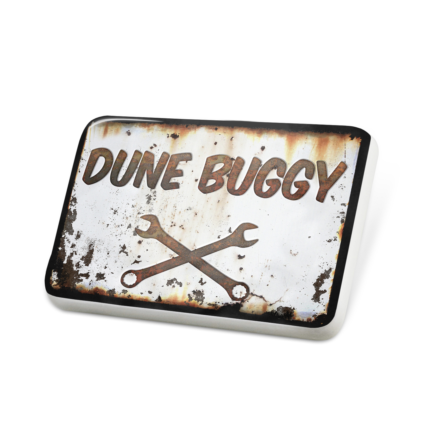 Porcelein Pin Rusty old look car Dune buggy Lapel Badge – NEONBLOND