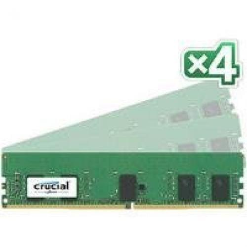 Crucial 32GB DDR4 SDRAM Memory Module - 32 GB (4 x 8 GB) - DDR4 SDRAM - 2400 MHz DDR4-2400/PC4-19200 - 1.20 V - ECC - Registered