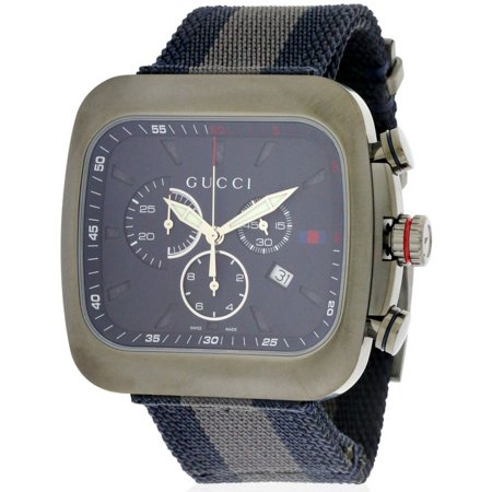 6d4040a1c6e Gucci - Nylon Chronograph Mens Watch YA131203 - Walmart.com
