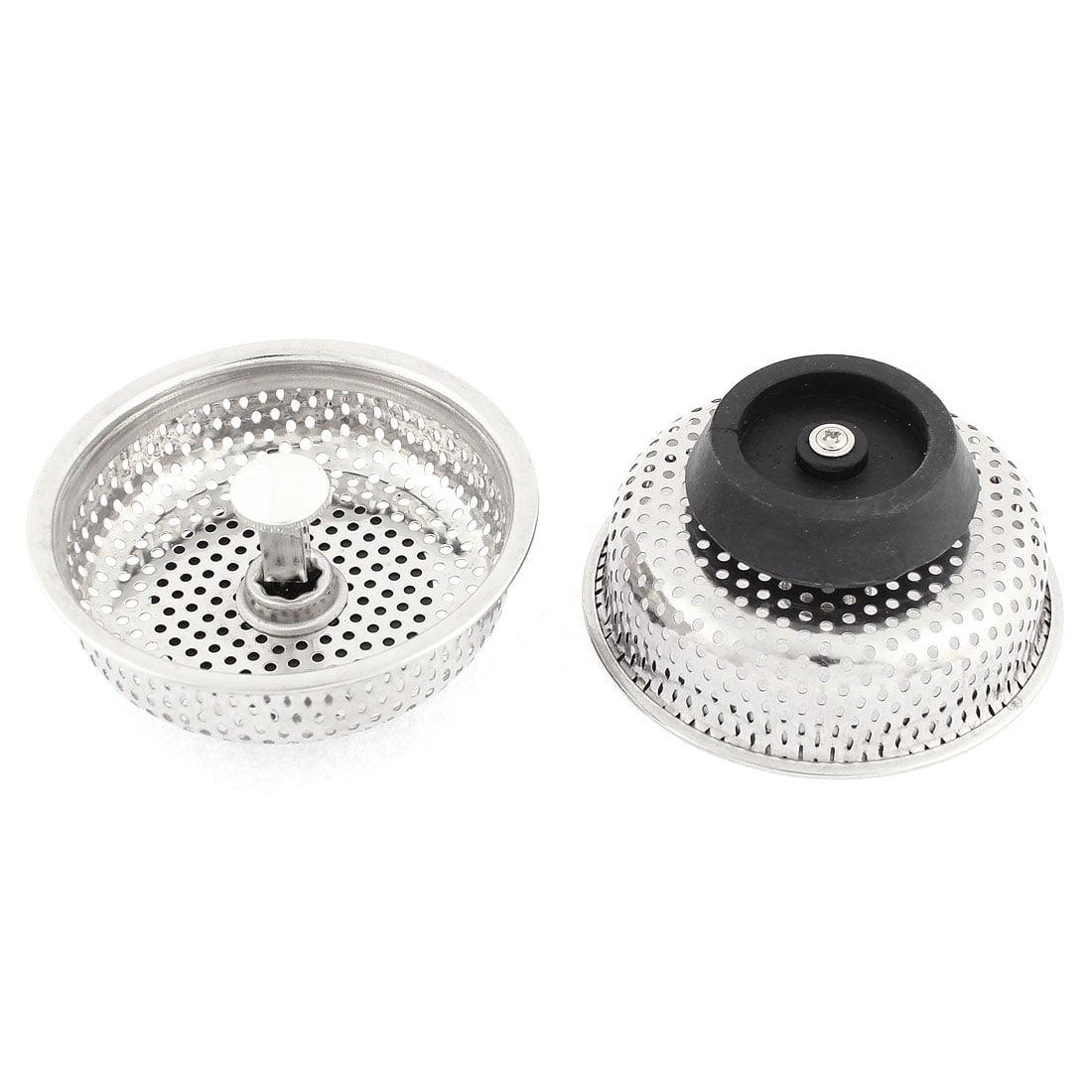 2 Pcs Mesh Kitchen Waste Filter Basket Sink Strainer Stopper Clog Preventing
