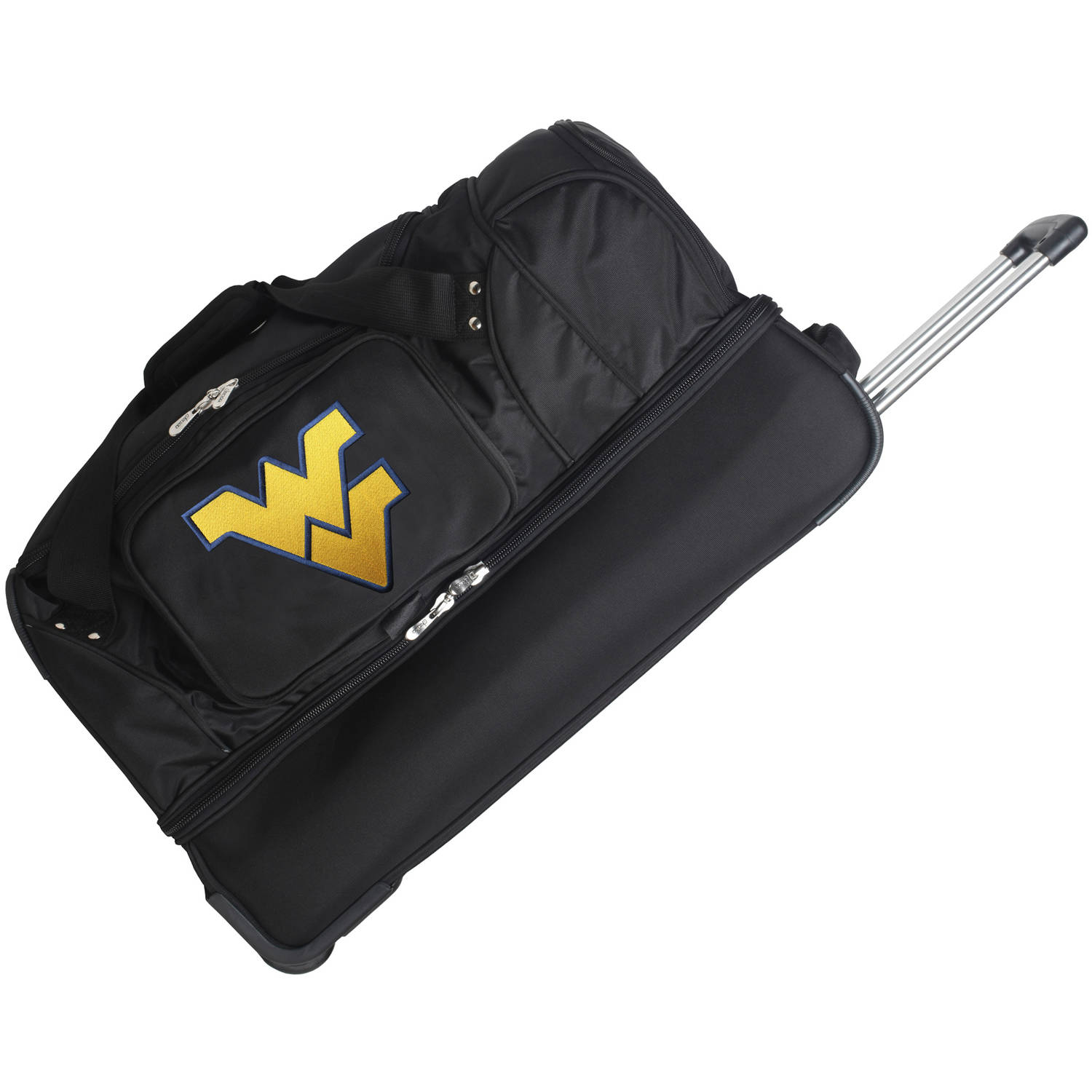 "Denco NCAA 27"" Rolling Drop Bottom Duffel, West Virginia"