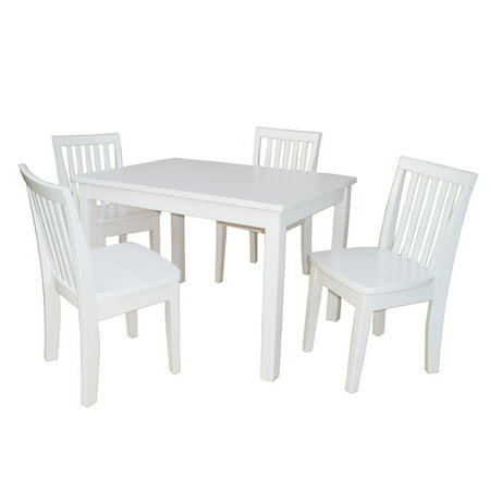 International Concepts Kids Table With 4 Mission Chairs