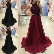 WomenLace Evening Party Ball Prom Gown Wedding Bridesmaid Long Maxi Dress