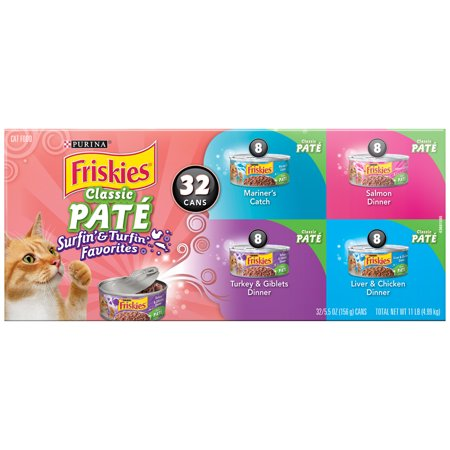 Purina Friskies Classic Pate Surfin   Turfin Favorites Adult Wet Cat Food Variety Pack    32  5 5 Oz  Cans