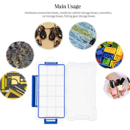 Boîte de rangement en plastique transparent Boîte multi-compartiments Slot Hardware Boîte à outils Organisateur de bijoux Boîte aux outils pour composants électroniques Boîte de pêche Accessoires de p - image 3 of 7