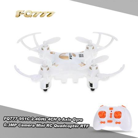 Original FQ777 951C 2.4GHz 4CH 6-Axis Gyro 0.3MP Camera Mini RC Quadcopter...