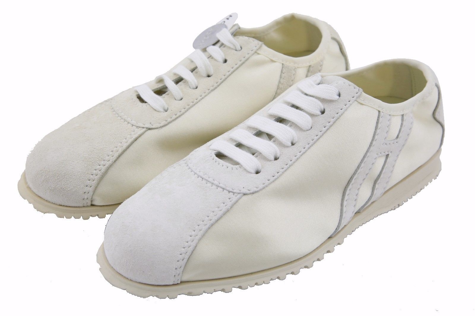 Hogan by TOD'S Women's Stripe Lace Up White Shoes Sneakers US 5.5 / 35.5 NEW