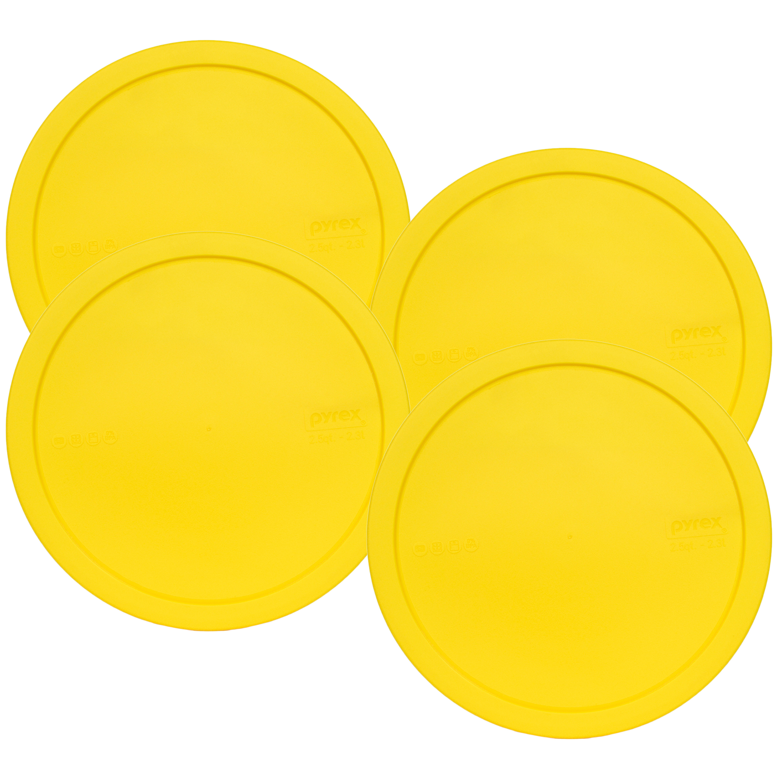 Pyrex Replacement Lid 325-PC Yellow Plastic Round Cover (4-Pack) for Pyrex 325 2.5-Qt Bowl (Sold Separately)