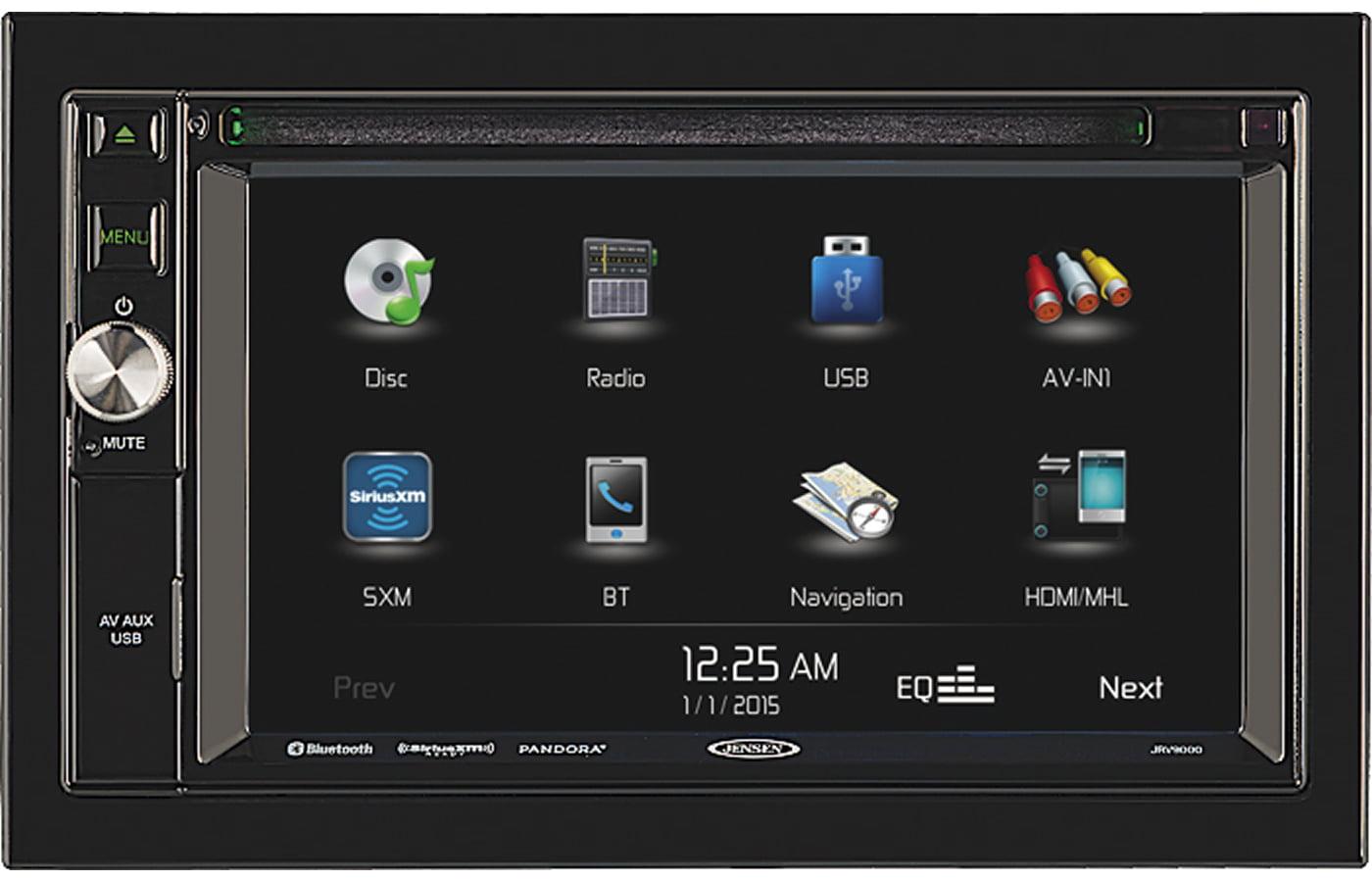 "JENSEN JRV9000R JRV9000 R 2.0 Double DIN 6.2"" Touchscreen Navigation   Bluetooth Multimedia Receiver System with... by Jensen"
