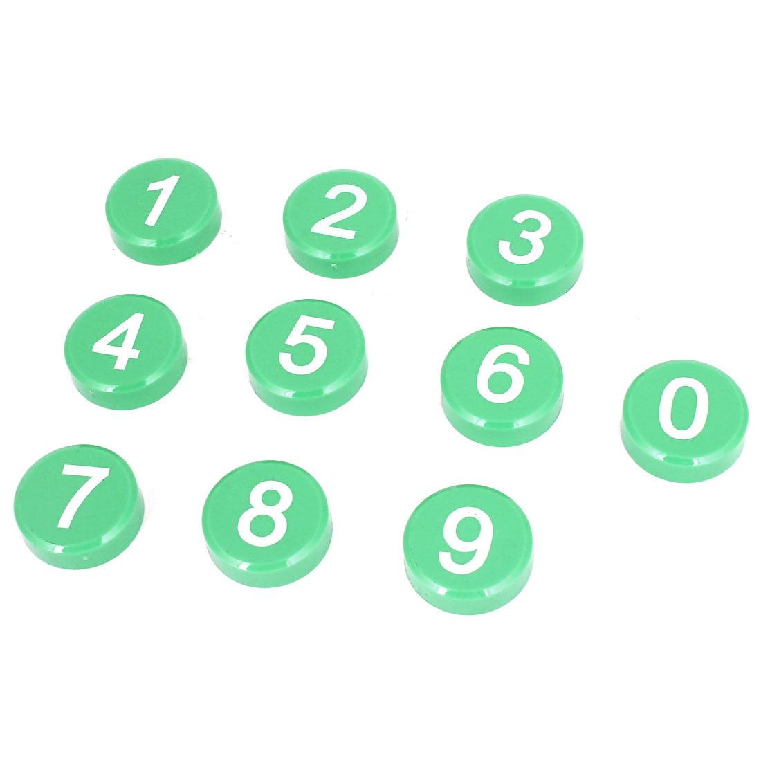 Unique Bargains 10 Pcs Arabic Number Pattern Fridge Refrigerator Magnets Decor
