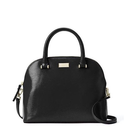 NEW KATE SPADE WKRU4701 CARLI BIXBY PLACE BLACK PATENT LEATHER SATCHEL HAND BAG