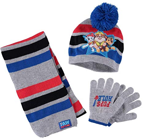 Paw Patrol Kids Winter Hat Scarf Gloves Set