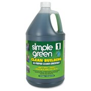 Simple Green Clean Building All-purpose Cleaner Concentrate - Concentrate Liquid Solution - 1 Gal [128 Fl Oz] - 1 Carton (11001ct)