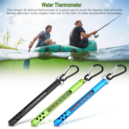 Outdoor Metal Fly Fishing Water Stream Thermometer Fishing Accessories , Metal Water Thermometer, Fishing (Best Fly Fishing Gear 2019)