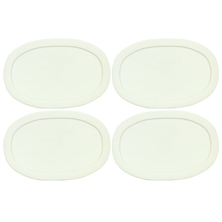 Corningware Replacement Lid F-15-PC 15oz French White Plastic Oblong Cover 4-Pack for Corningware Casserole Dish (Sold Separately) (White 15 Oz Oval Dish)