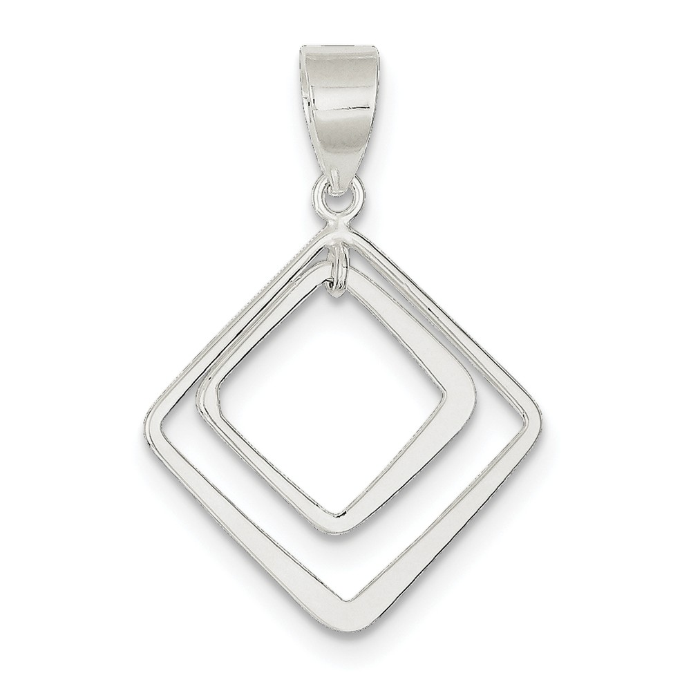 Sterling Silver Fits up to 6.00mm Diamond Shape Pendant