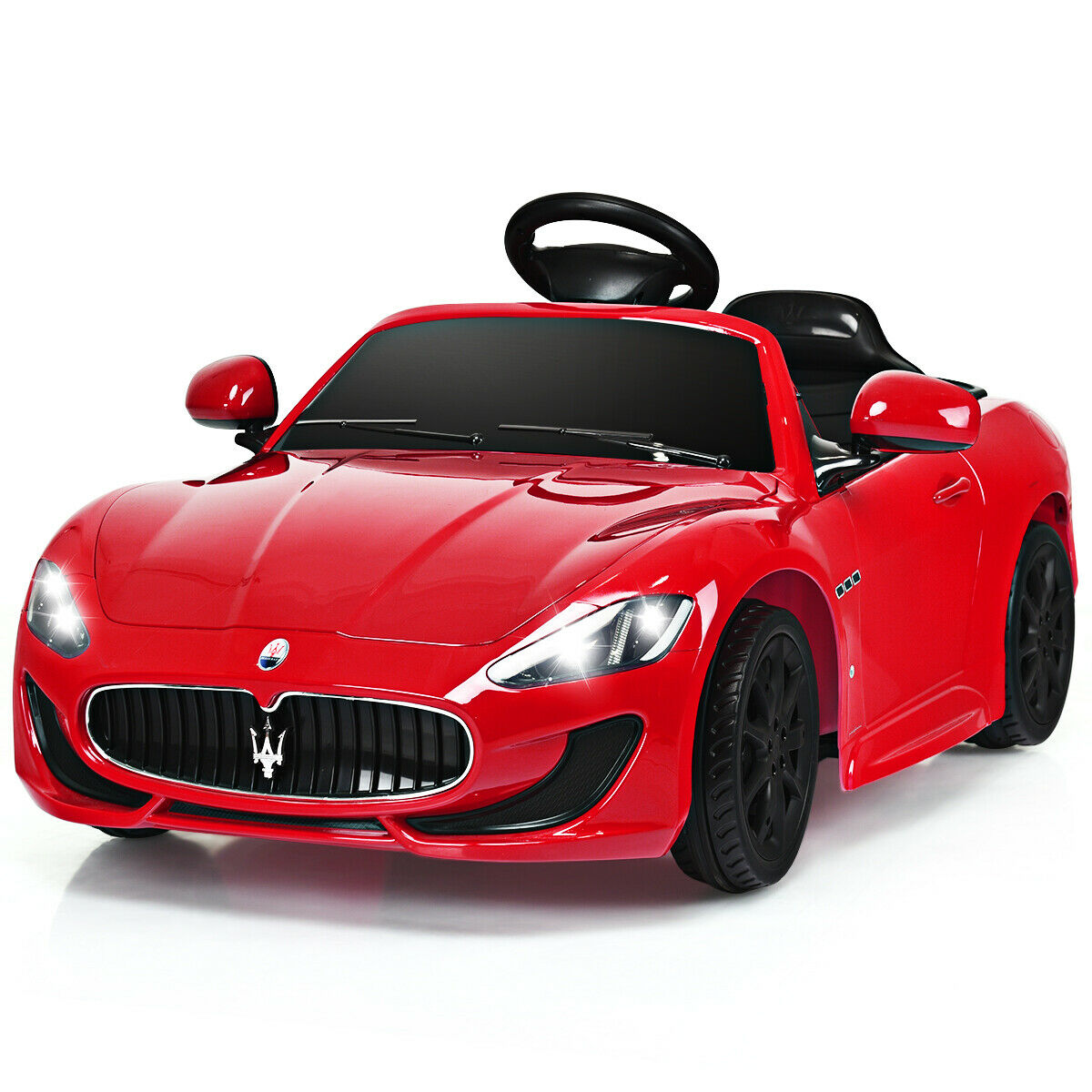 Gymax 12V Maserati Grancabrio Licensed Electric Kids Ride On Car RC W/  Lights U0026 Music   Walmart.com