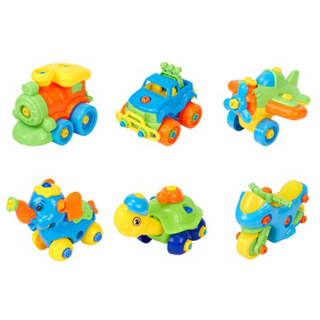 SHOPFIVE Color Random!!! Hot Baby Plastic Car Toy Disassembly Assembly Classical Cars Truck Toys Brand Children Gifts