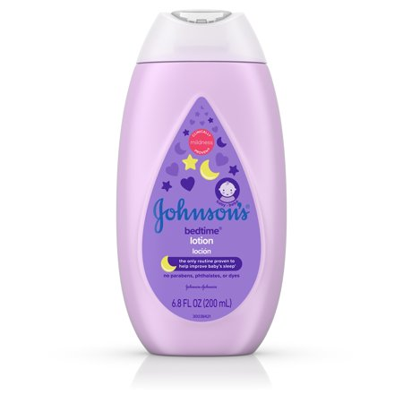 (2 Pack) Johnson's Bedtime Baby Lotion with NaturalCalm Essences, 6.8 fl. oz ()