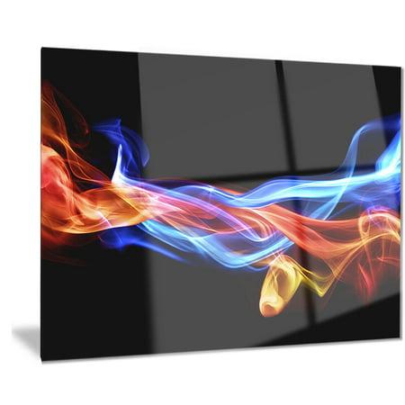 DESIGN ART Designart 'Fire and Ice Design Abstract' Digital Art Metal Wall Art ()