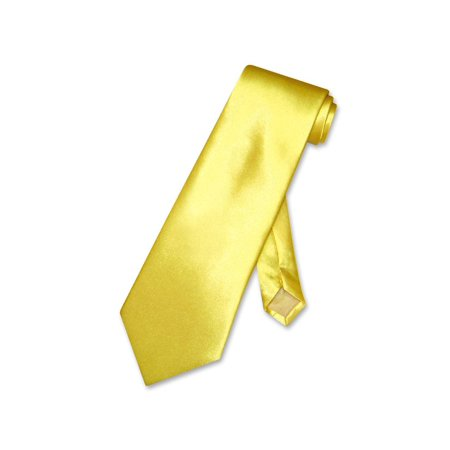 Covona NeckTie Solid DARK YELLOW Color Men's Neck Tie ()