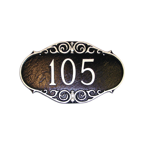 Montague Metal Products Inc. Victorian Address Plaque