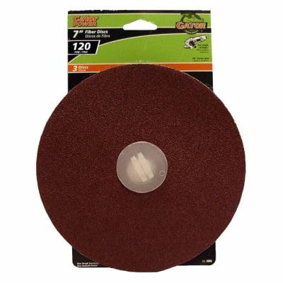 Image of Ali Industries 3080 3-Pk, 7-In. 120-Grit Fiber Sanding Disc
