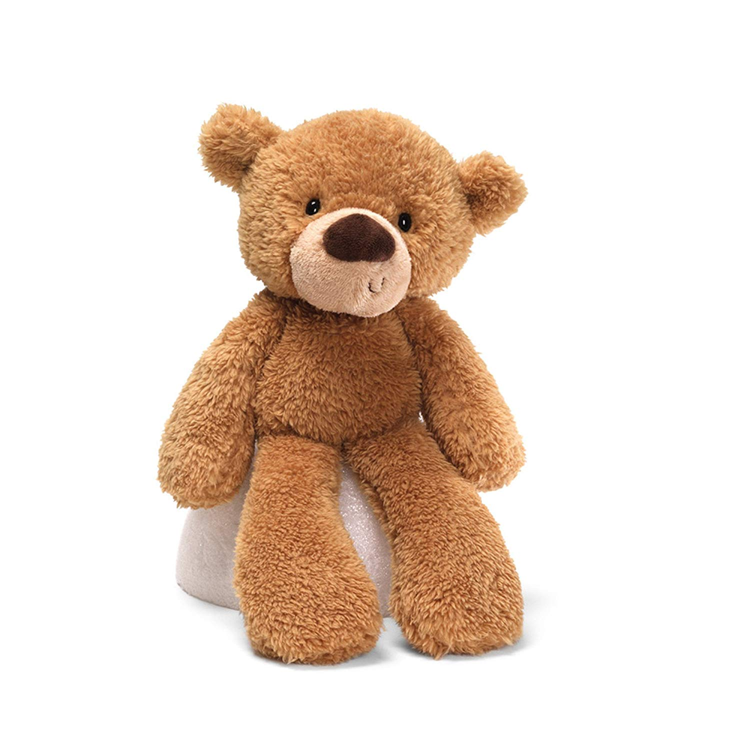 "Fuzzy Teddy Bear Stuffed Animal Plush, Beige, 13.5"", Polyester By GUND"