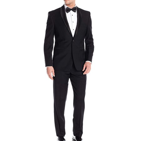 Wool Slim Fit Mens One Button 2pc Tuxedo 38