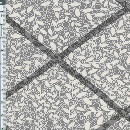 Vine Cotton Fabric (Grey Vine Cotton Twill Decorating Fabric, Fabric Sold By the Yard )