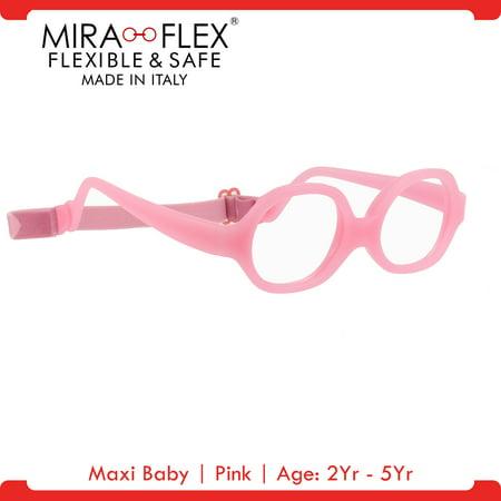 Miraflex: Maxi Baby Unbreakable Kids Eyeglass Frames | 38/12 - Pink | Age: 2Yr - 5Yr