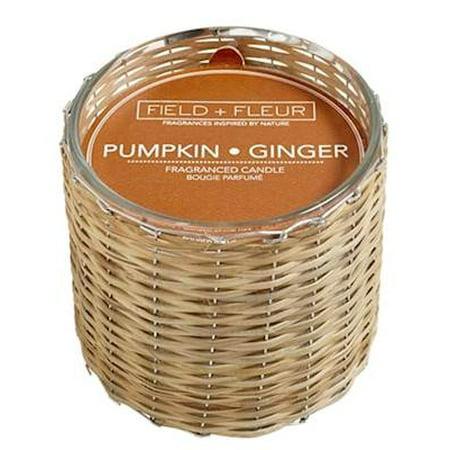- PUMPKIN+GINGER Field + Fleur Reed 2-Wick Handwoven 12 oz Scented Jar Candle