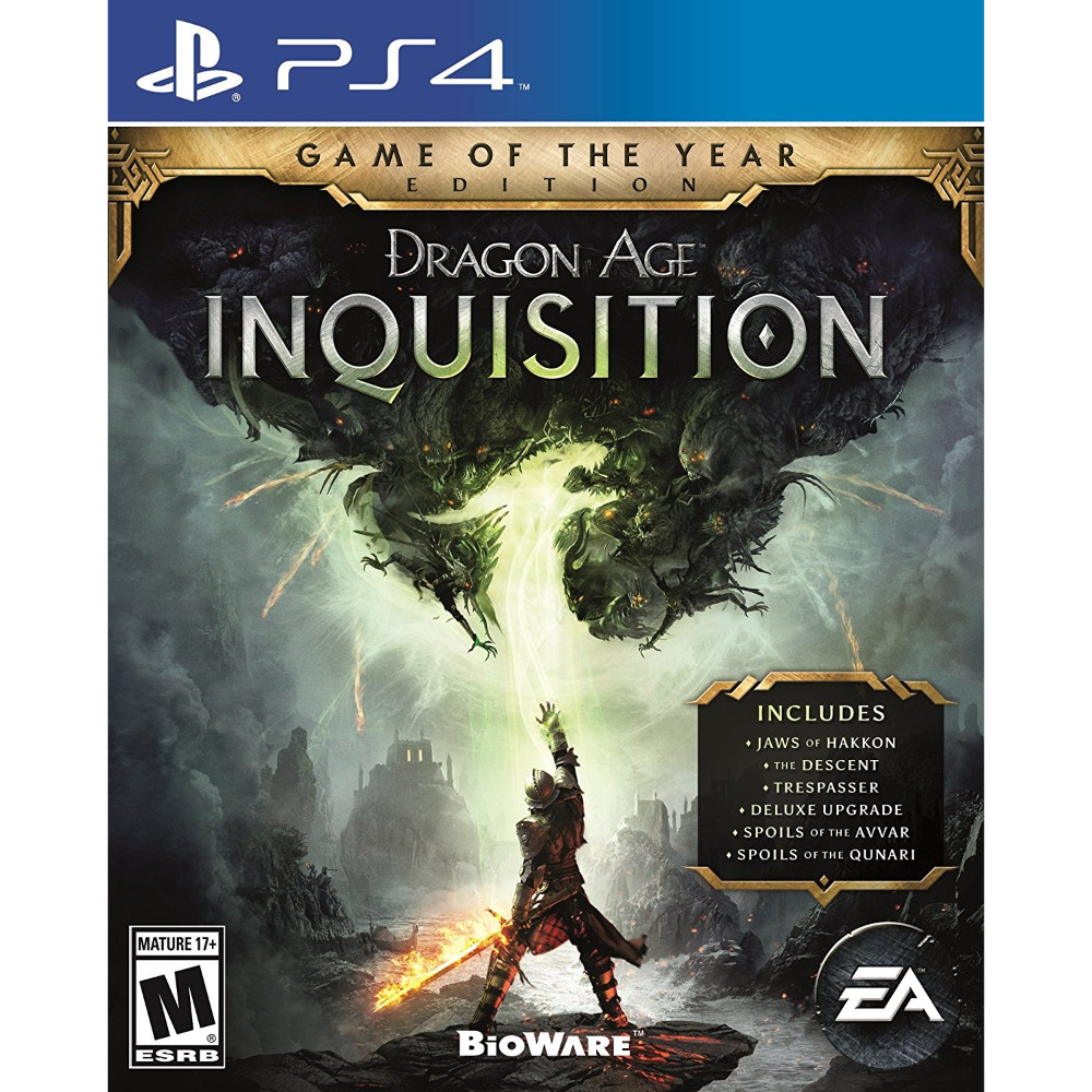 Dragon Age Inquisition [GOTY}, Electronic Arts, PlayStation 4, 014633735161