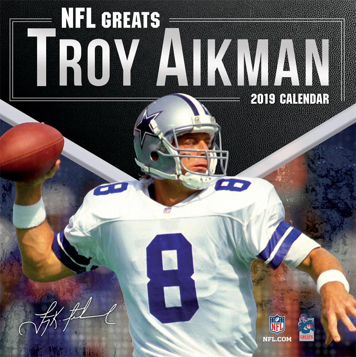 2019 12X12 GREATS WALL CALENDAR, NFL GREATS TROY AIKMAN