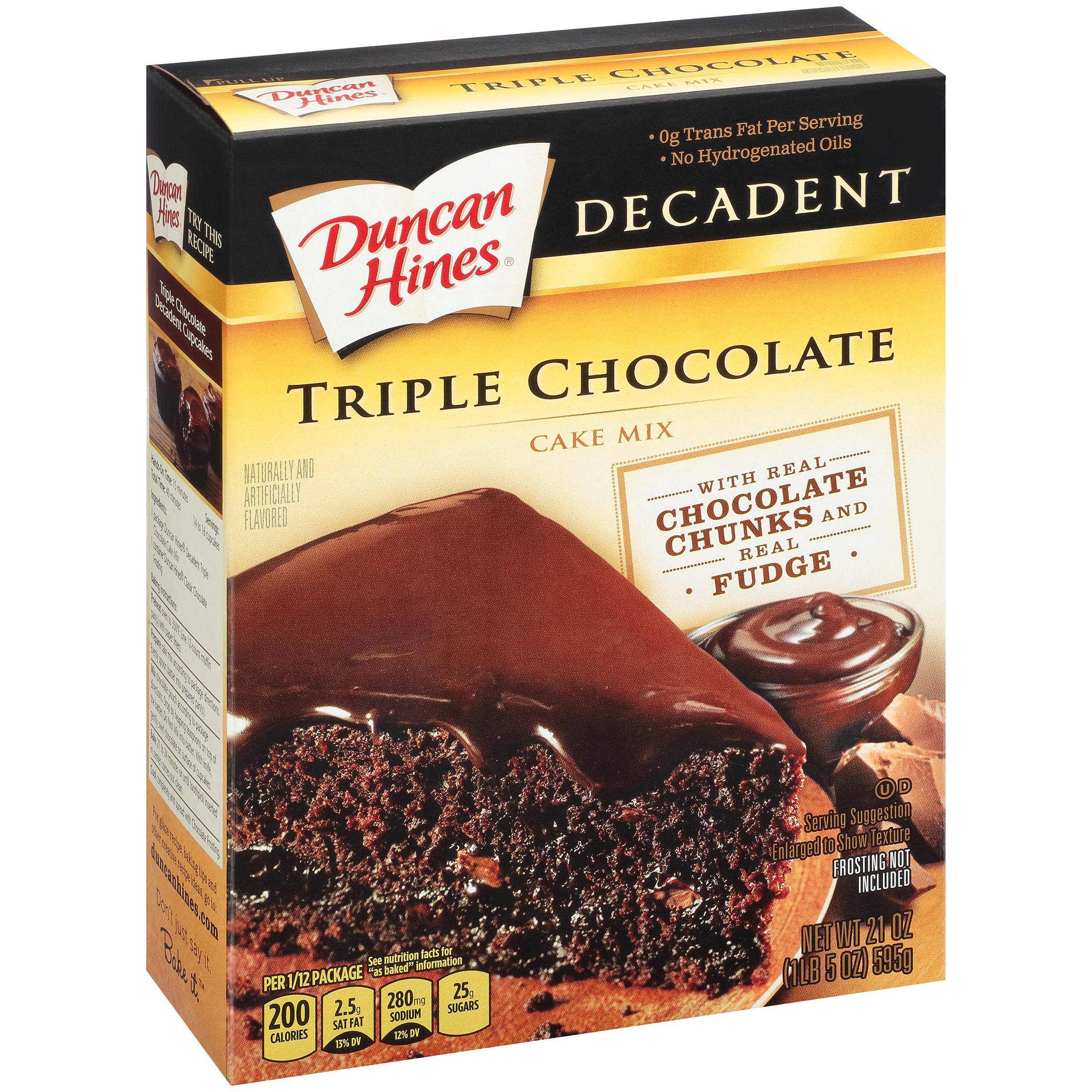 Duncan Hines Decadent Cake Mix Triple Chocolate, 21.0 OZ by Pinnacle Foods Group LLC