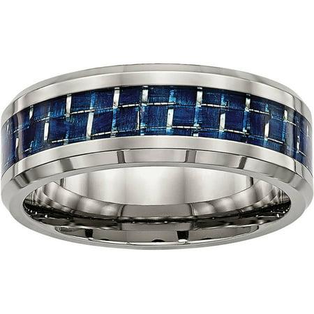 Primal Steel Titanium Polished w/ Blue Carbon Fiber Inlay (Blue Titanium)