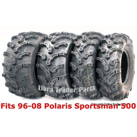 96-08 Polaris Sportsman 500 Full Set ATV tires 25x8-12 & 25x11-10 Premium (Best Lightweight Atv Mud Tire)