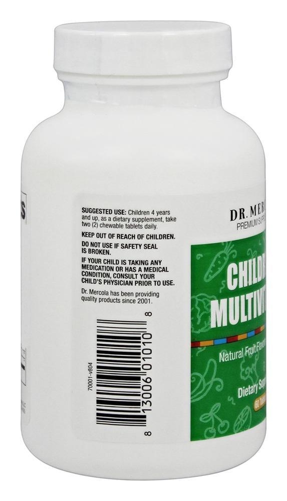Dr  Mercola Premium Products - Children's Multivitamin Fruit Flavored - 60  Chewable Tablets