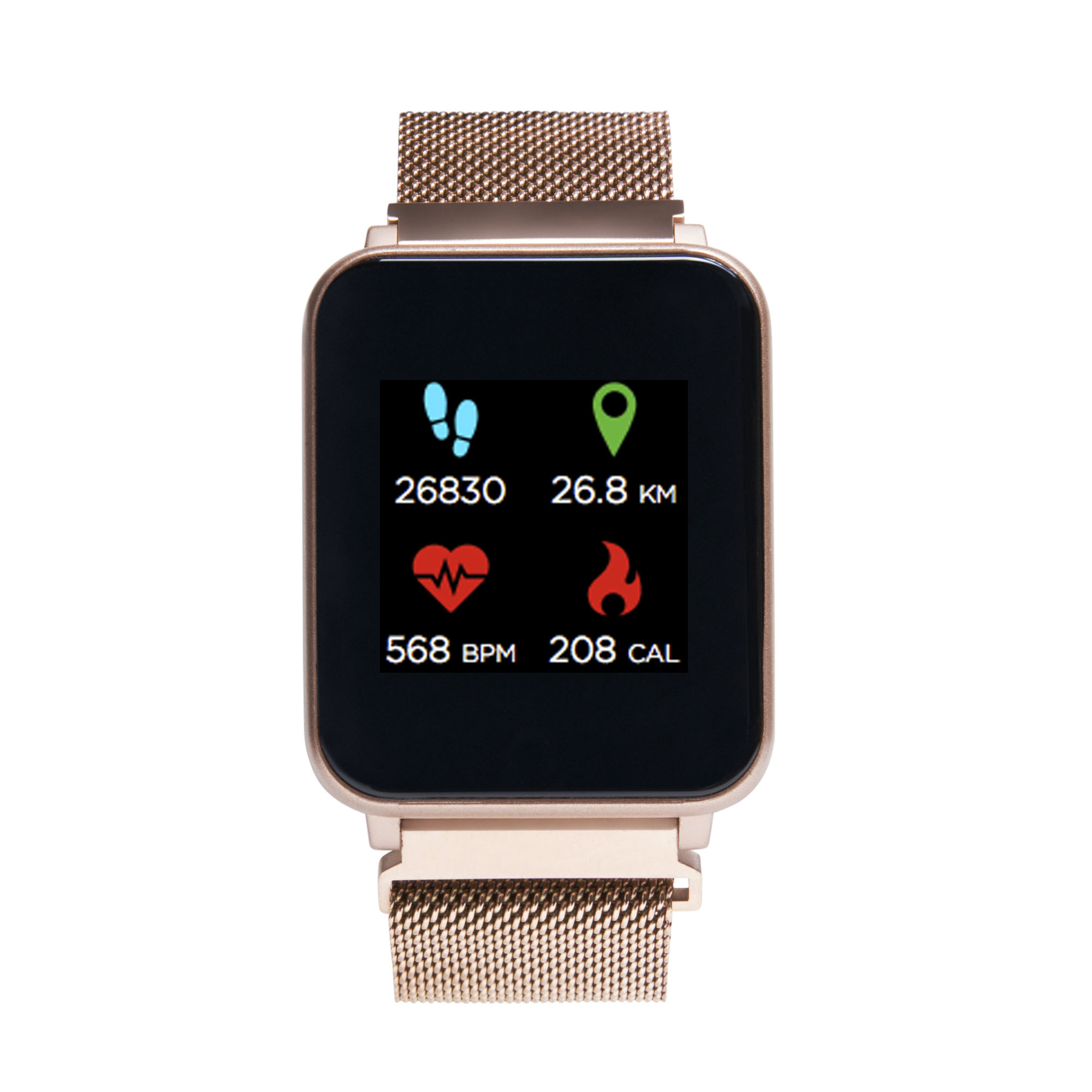 contravveleno vassoio Groviglio  iTech - iTech Fusion Mesh Strap Smartwatch, Rose Gold - Walmart.com