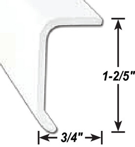 AP Products 018-314 White Economy Rubber Slide-Out Seal