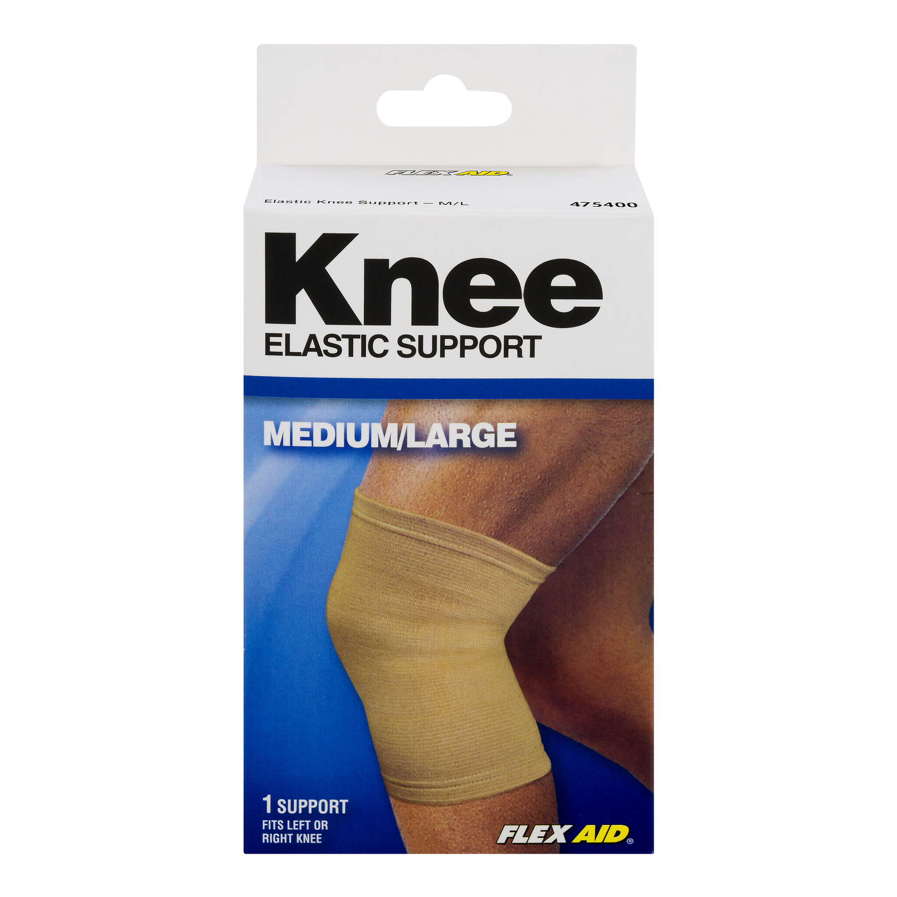 Flex Aid Knee Elastic Support Medium Large 1 0 Ct Walmart Com