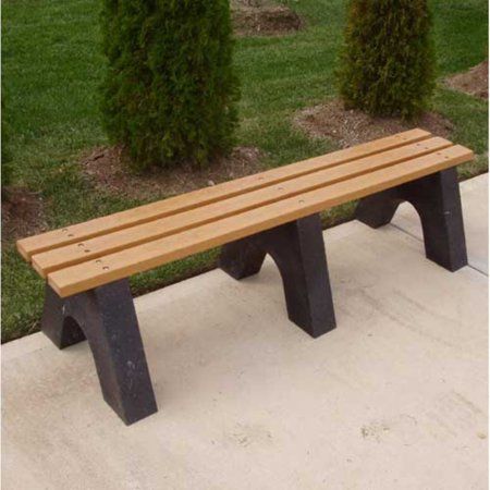 Jayhawk Plastics Recycled Plastic Commercial Sport Backless Bench ()