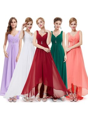 73fde7d9576c Product Image Ever-Pretty Womens Sexy Deep V-Neck Long Maxi High-Low Formal  Evening. Product Variants Selector. Burgundy