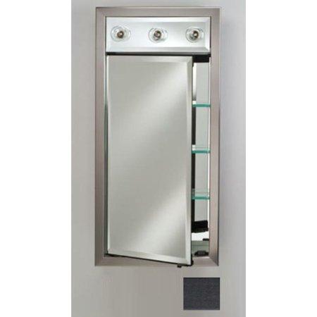 - Afina Corporation SD-LC2440RCOLBK 24x40 Contemporary Integral Lighted Single Door - Colorgrain Black