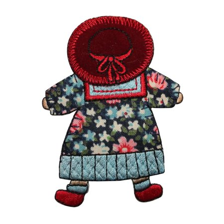 ID 7484 Children Stuffed Doll Patch Old Toy Baby Embroidered Iron On Applique (Iron Dolls)