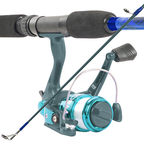 South Bend Worm Gear Fishing Rod and Spinning Reel, Blue Combo