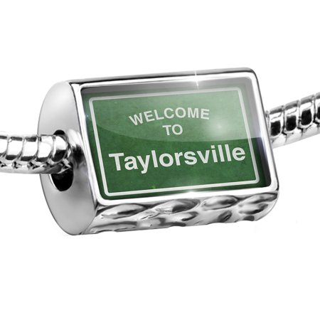 Party City Taylorsville Road (Bead Green Road Sign Welcome To Taylorsville Charm Fits All European)