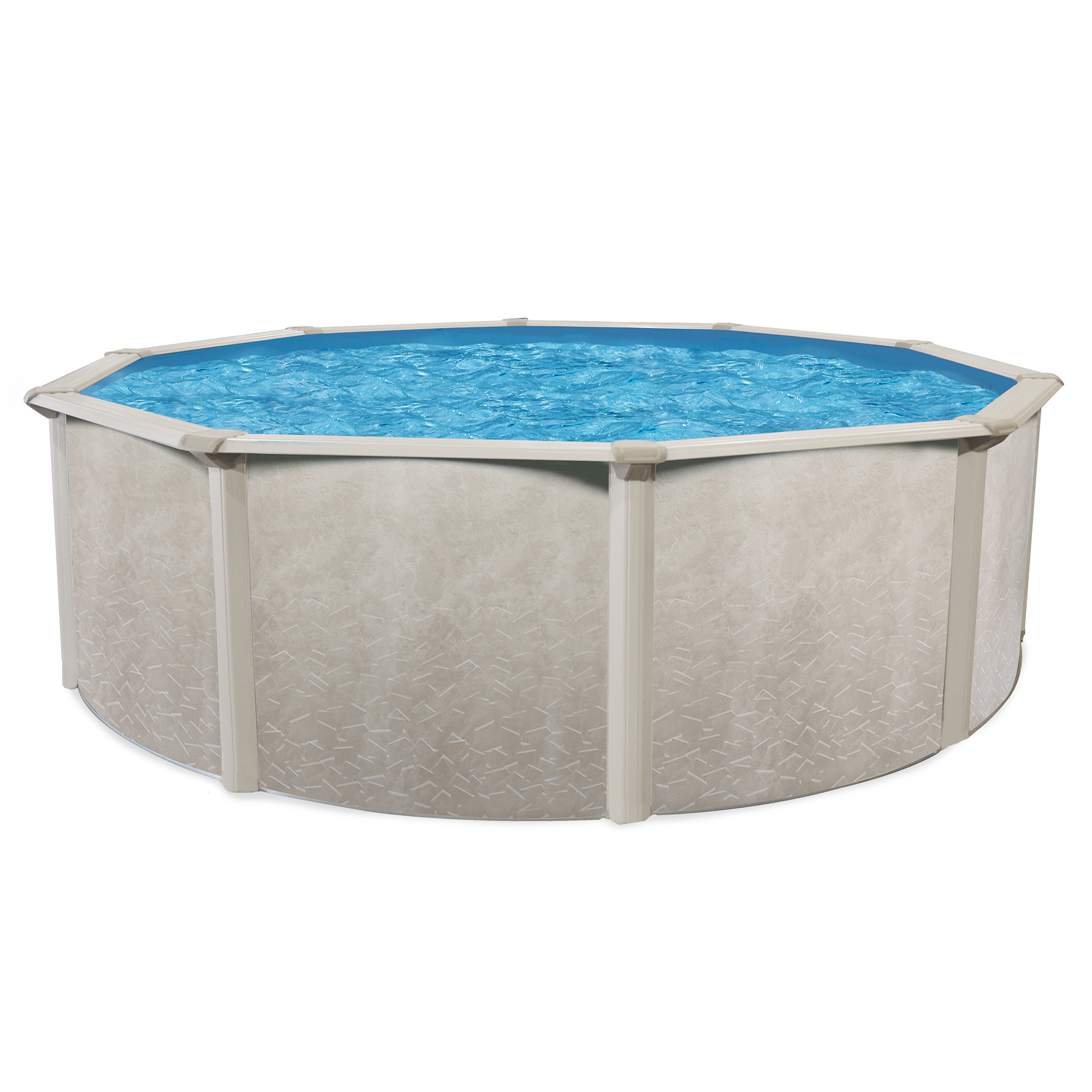 "Phoenix 24' x 52"" Round Steel Frame Design Above Ground Outdoor Swimming Pool by Cornelius"